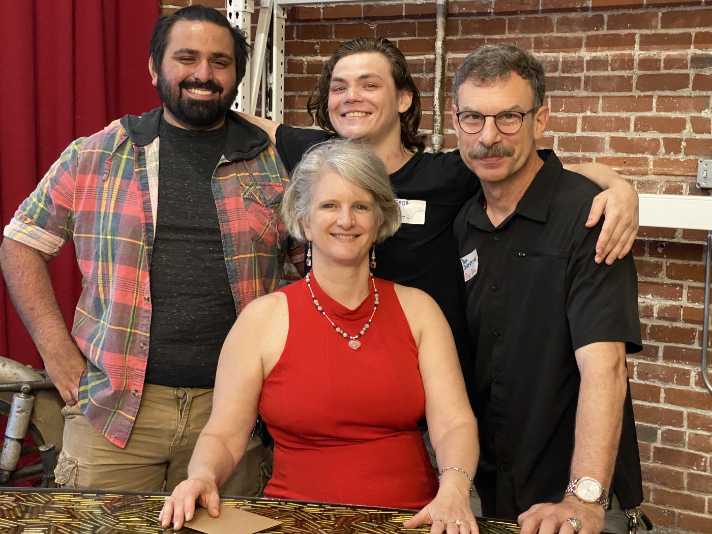 Cameron, rear center, with brother Dominic, left, father Patrick, right, and mother Vickie. Photo courtesy: Cosentino family.